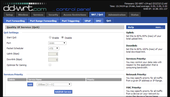 right firmware for router